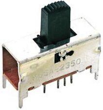 1 X MSSA2350 MSSA-2350 ALCOSWITCH SLIDE SWITCH DP3T 0.3A 125VAC UPRIGHT SILVER