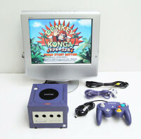 Game Cube Nintendo Game Console Violet DOL-001 Working Japan Excellent +
