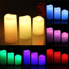 Amber LED Timer Candle Lights Flameless Battery Operated Mood Candles RC Control
