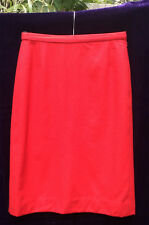 """VINTAGE BURBERRY'S RED CLASSIC SKIRT 100% WOOL W28"""" sz S-M BURBERRY"""