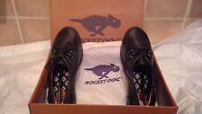 Rocket dog black lace up shoes - size 5 - ideal school shoes brand new in box