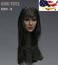 NEW 1/6 female head long hair for hot toys phicen KUMIK KIMI KT011 B ❶US SELLER❶