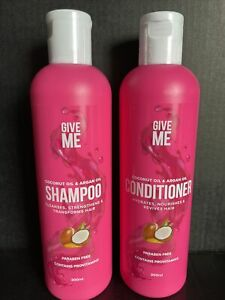 Give Me Shampoo & Conditioner Set Argan Oil & Coconut Oil 300ml Sealed FAST POST