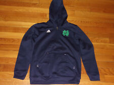 ADIDAS NOTRE DAME 1/2 ZIP HOODED PULLOVER BOYS MEDIUM 10-12 EXCELLENT CONDITION