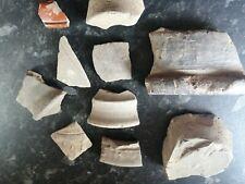 Fragmentos de cerámica romana Greyware Samian Ware (patrones) #1