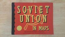 Vintage Soviet Union in Maps - Atlas - 1961 - Harold Fullard