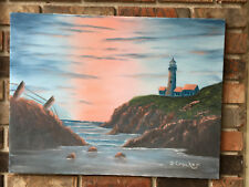 """Oil Painting Lighthouse 18""""x24"""""""