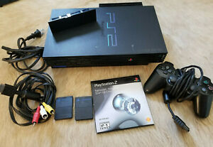 Sony Playstation 2 Console SCPH-30001 w/ Original Cables Controllers + Extras