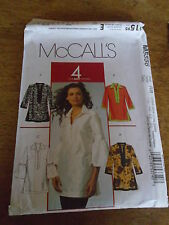 "PATRON ""McCALL'S  TUNIQUE MOUSQUETAIRE INDIENNE ETC. TAILLE 46/48/50/52 N°5556"