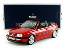 Norev 1995 VOLKSWAGEN GOLF III CABRIOLET RED 1/18 Scale In Stock!