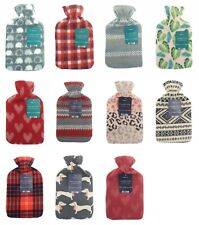 Natural Rubber Hot Water Bottle With Removable New Designs Cover 2Litres