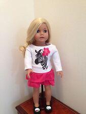 "New Beautiful 18"" Sophia Heritage Doll -Blonde Hair with Zebra Top & Pink Skirt"