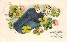 BG32543 new year neujahr clover dice flower  germany