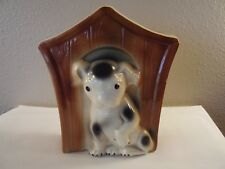 1950s BRUSH McCOY Art Pottery PUPPY Dog House WALL POCKET Planter USA 800 Rare!