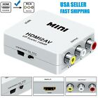 Mini Composite 1080P HDMI to RCA Audio Video AV CVBS Converter Adapter For TV