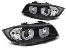 LPBMI4 Coppia Fari Anteriori a Led BMW serie 3 E90 E91 05-08 Angel Eyes nero Tun