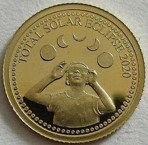 Nicaragua 10 Cordobas 2020 Total Solar Eclipse Gold