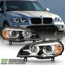 2007-2010 BMW E70 X5 [HID w/AFS Model] 3D LED Halo DRL Dual Projector Headlights