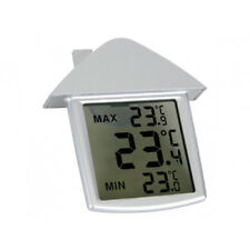 Digital Window Thermometer Indoor Outdoor Weather Lcd Garder Home Patio Office