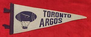 Vintage 1960's Toronto Argos Argonauts 16 Inch CFL Football Pennant Old Canadian
