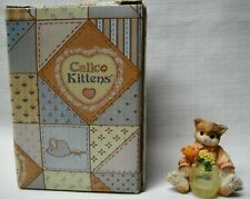 "Enesco Calico Kittens ""Itty Bitty Kitty - Fish"" 1996"