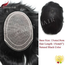 Asian Human Hair Mens Toupee Double Layed Super Fine Welded Mono Hair System Wig