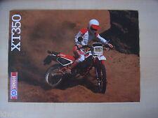 Yamaha xt350 Prospectus/Brochure/DEPLIANT, D
