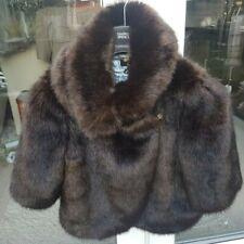 *BNWOT TED BAKER LADIES SIZE 3 UK 12 GORGEOUS BROWN FAUX FUR COAT*RRP £279*