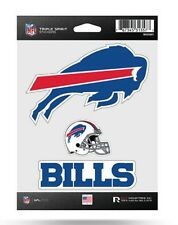 Buffalo Bills Triple Spirit Sticker Sheet Die Cut Decal New Full Color Logo