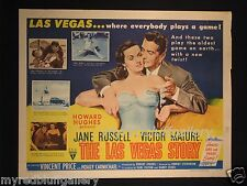 The Las Vegas Story 1952 Jane Russell & Howard Hughes Movie Poster