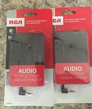 Lot Of 2 Rca Ah600R Auto Car Cassette Adapter For iPhone Smartphone Mp3