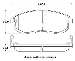 Disc Brake Pad Set Front Stoptech 308.08151