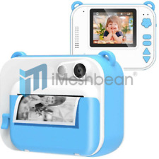 Blue Kids Instant Digital Polaroid Camera Zink Zero Ink Printing +150 Film Sheet