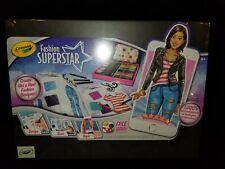 Crayola Fashion Superstar NEW Design Clothes Book and App CreativeFun! Fast Ship
