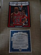 Jordan: Ticket to Greatness First Issue 25,000 Points Game Ticket Signed Plate