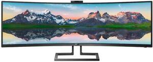 """Philips 49"""" 499P9H1 5K HDMI/DP/USB-C/SPK/Webcam LED Monitor"""