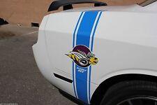 Custom Vinyl Decal Rear SIDE STRIPE BEE Wrap Kit for Dodge Challenger 08-16 BLUE