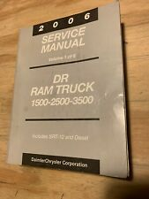 New Listing2006 Dodge Ram Truck 1500-3500 Factory Service Manual Volume 1of 6