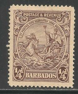 Barbados #165 (A19) VF MINT HR - 1925-35 1/4p Seal Of Colony