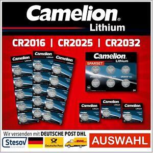 Camelion Button Cells CR2016 CR2025 CR2032 Lithium Batteries Blister Selection