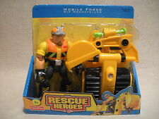Rescue Heroes Mobile Force Rip Rockefeller  & Mini Excavator  Factory Sealed!