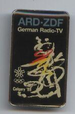 Orig.Pin   Olympische W.Spiele CALGARY 1988  -  Radio-TV  //  ARD/ZDF !! RARITÄT