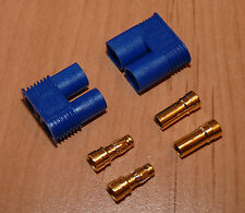 1 Paar EC3 Goldstecker Stecker 3,5mm Bananenstecker Connector Goldkontakt Gold