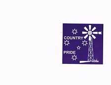 Country Pride Ute southern cross windmill bns B&S bar Sticker