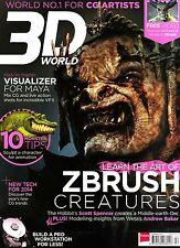 3D WORLD #178 02/2014 ZBRUSH CREATURES Scott Spencer VISUALIZER FOR MAYA @New@