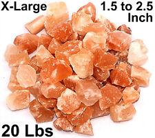 Himalayan Pink Salt Chunks 20 Lb Bulk 100% Authentic Pure Natural Rock Stone
