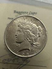 Amérique États Uni 1 $ Dollar Peace Dollar 1922 Mint Philadelphia Km 150