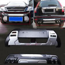 Front+Rear Bumper Board Guard Bars Protect Cover For Honda CRV CR-V 2010-2011