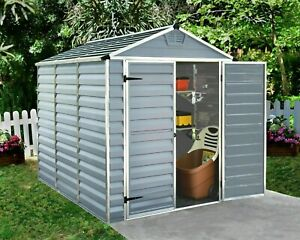 Palram Grey Plastic Garden Shed Skylight Aluminium 4x6 Pent 6x5 6x8 6x10 6x12