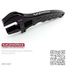 RACEWORKS ADJUSTABLE BILLET ALLOY WRENCH AN-3 to AN-12 BRAIDED HOSE FITTINGS